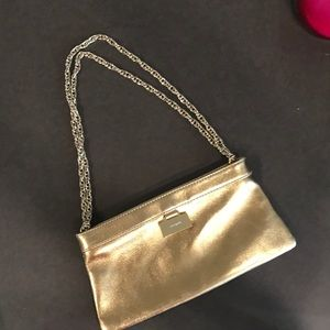 Kate Spade Gold bag on gold chain